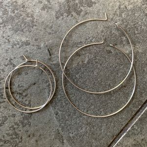 Sterling Silver Thin Hoops (set of 2)